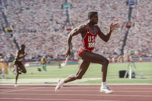 15. Carl Lewis Matches Jesse Owens' Four Gold Medals (1984 Los Angeles)