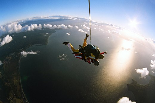 8. Skydiving