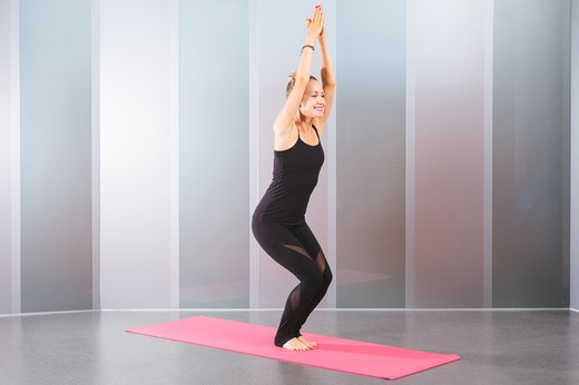 8. Chair Pose (Utkatasana)