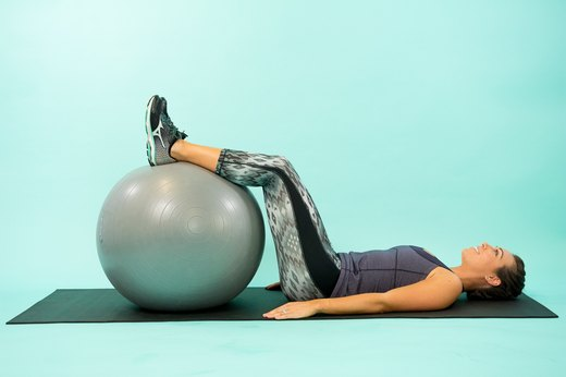6. Swiss Ball Glute Raise