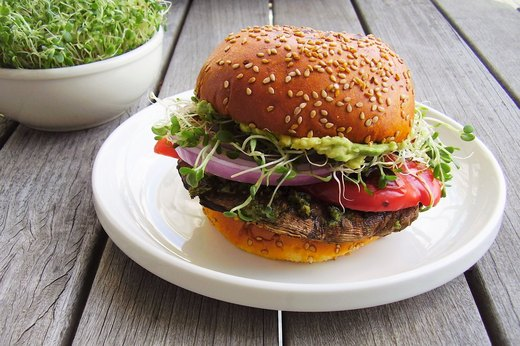 "3. Grilled Vegan Pesto ""Burgers"""
