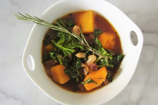 6. Italian Butternut Squash, Kale and White Bean Soup