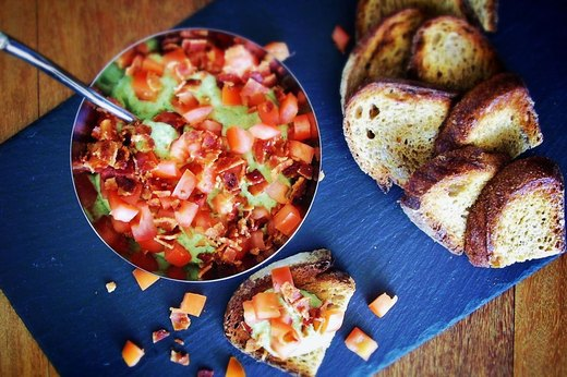 3. BLT White-Bean Bruschetta Spread