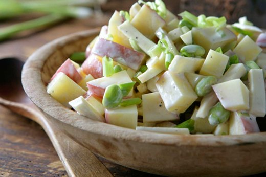Recipe #1: Potato Salad With Parsnips and Edamame