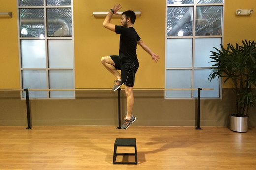 Step-Up Variation #1: Add Single-Leg Push-Offs