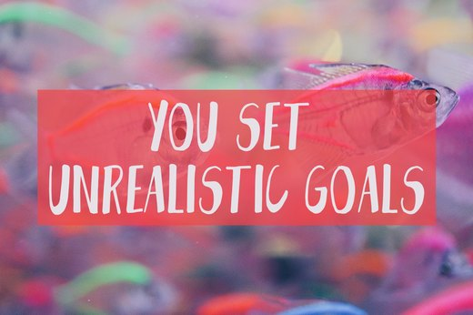 4. You Set Unrealistic Goals