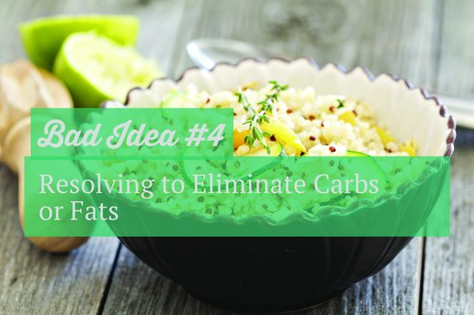 4. Resolving to Eliminate Carbs or Fats