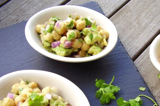 5. Chickpea, Avocado and Red Onion Salad