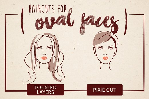 Haircuts for Oval Faces