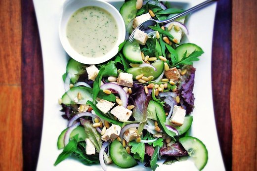 4. Leafy Rotisserie Chicken Salad With Creamy Tarragon Dressing