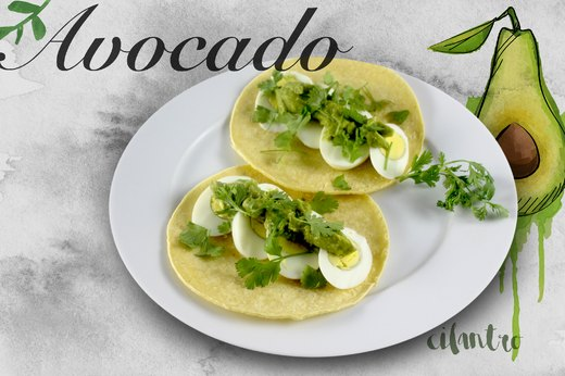 4. Guacamole and Egg Soft Tacos
