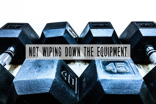 8. Not Wiping Down the Gym Equipment
