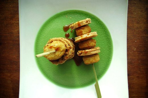 8. Chicken-and-Waffle Kebabs