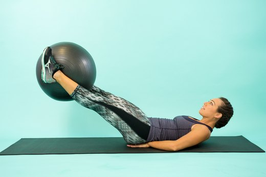 How to Do a Swiss Ball Leg Lift