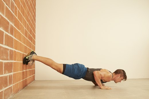 12. Feet on Wall Push-Up