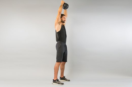 How to Do a Kettlebell Shoulder-to-Shoulder Overhead Press