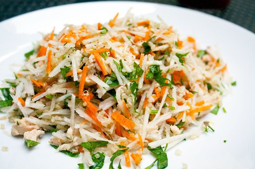 1. Daikon, Salmon and Quinoa Grain Salad
