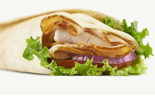 1. Arby's: Roast Turkey & Swiss Wrap