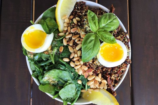 9. Pesto, Quinoa and Soft-Boiled Egg Bowl