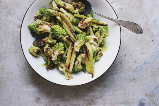 Brassica and Leek Salad With Green Goddess Vinaigrette