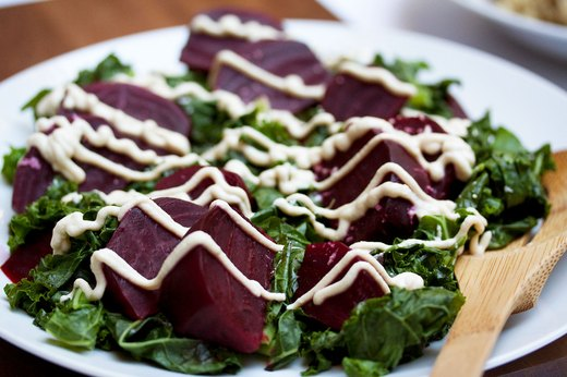 2. Holiday Kale and Beet Salad With Tofu Dressing
