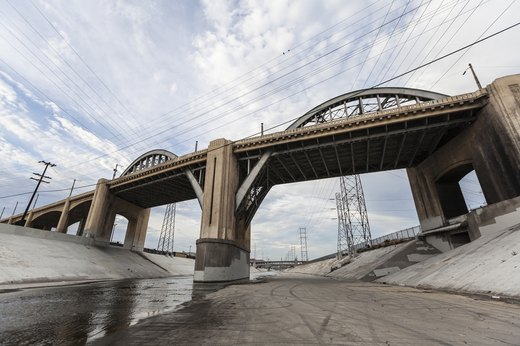 26. The Los Angeles River, Los Angeles, California