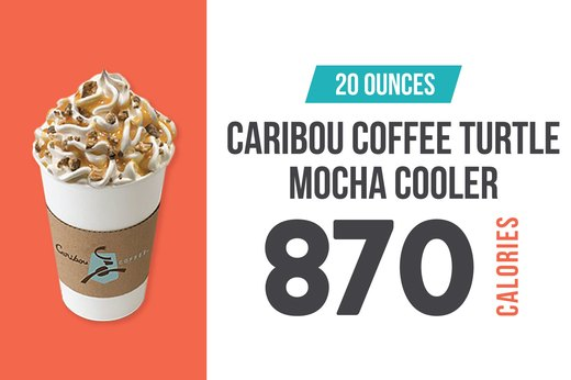 #2: Caribou Coffee Turtle Mocha Cooler