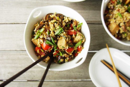 7. Vegetarian Stir-Fry Rice Bowl