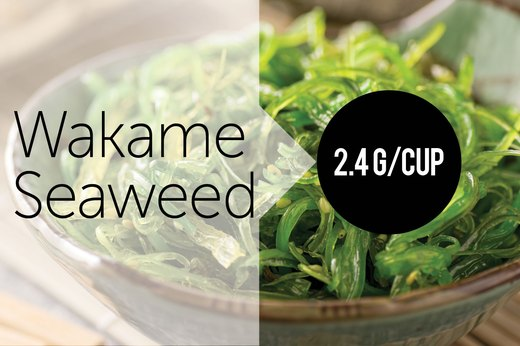 5. Wakame Seaweed (1 Cup Raw): About 2.42g of Protein