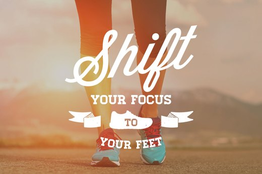 15. Shift Your Focus to Your Feet