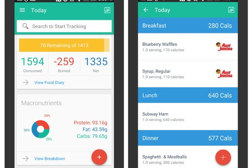 how to use the food diary in fitbit app