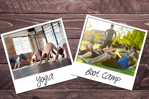 6. Yoga + Boot Camp