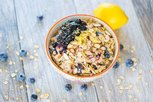 5. Blueberry-Lemon Muffin Oatmeal