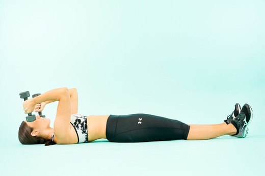 How to Do Supine Triceps Extensions
