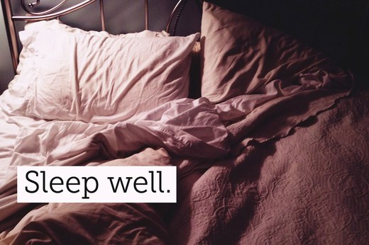 8. Get a Good Night's Sleep