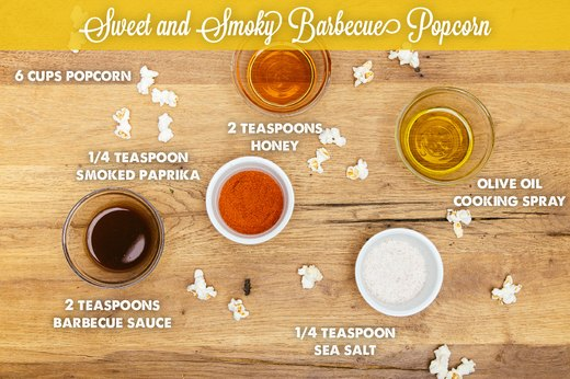 5. Sweet and Smoky Barbecue Popcorn