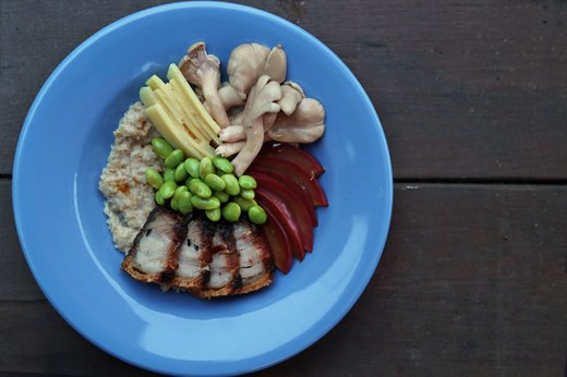 Roasted Pork-Belly Oatmeal Bowl