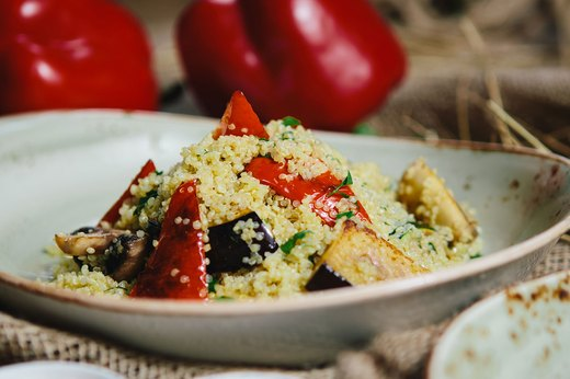8. Roasted Vegetable and Quinoa Salad