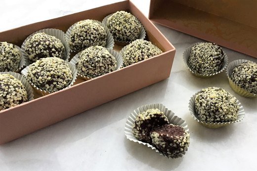 "1. Chocolate-Mint ""Energy Ball"" Truffles"