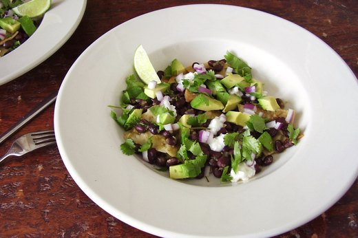 2. Black Bean Chilaquiles With Salsa Verde