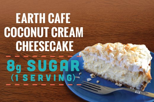 9. Earth Cafe Coconut Cream Cheesecake: 8 Grams of Sugar (1 Serving)