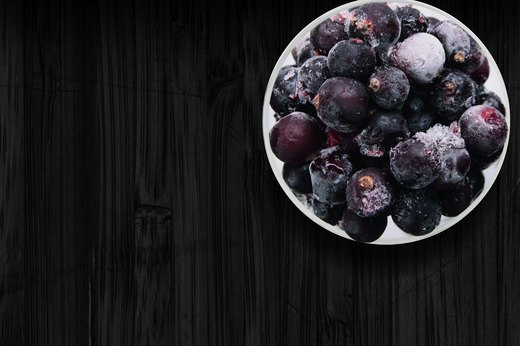 13. Frozen Blueberries