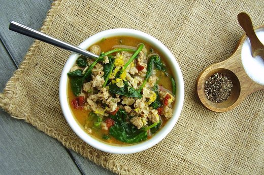 10. Cajun Turkey and Greens Hot Cereal Bowl