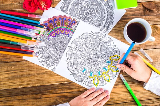 5. Adult Coloring Books