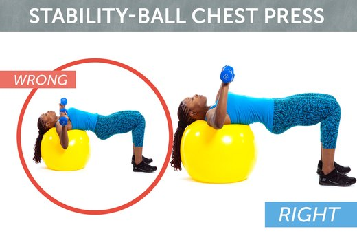 5. Stability-Ball Chest Press