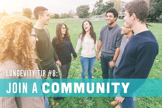 8. Join a Community
