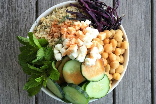1. Bloody Mary Chickpea Bowl