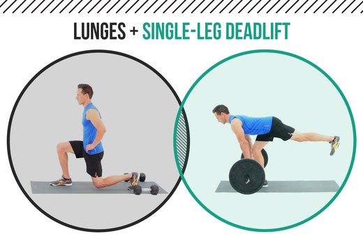 3. Lunges + Single-Leg Deadlift