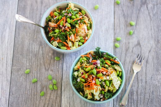 1. Kimchi Power Salad With Edamame and Quinoa