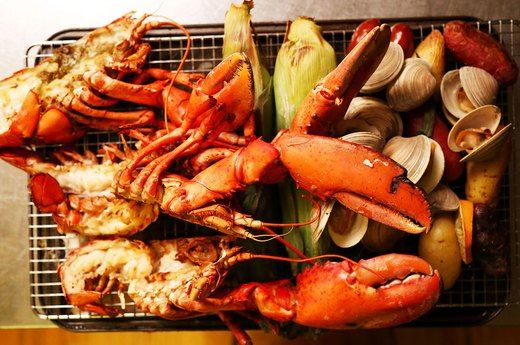 3. Lobster Bake With Corn, Chorizo and Clams